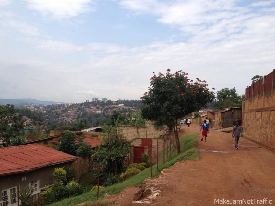 Straße Kigiali Ruanda