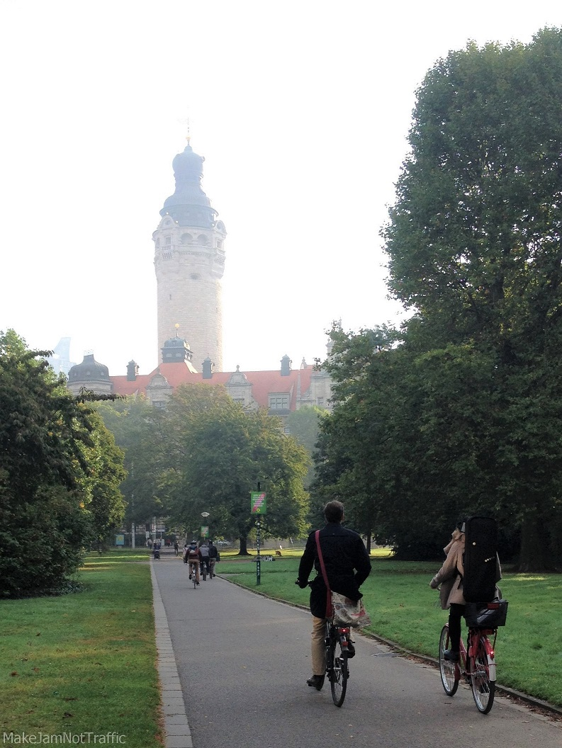 Radfahrer in Leipzig